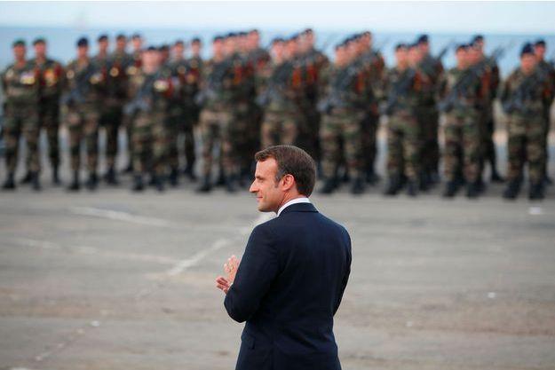 Emmanuel Macron lors d'une cérémonie d'hommage au commando Kieffer, le 6 juin dernier.