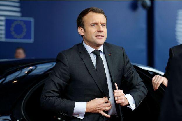 Emmanuel Macron, jeudi dernier à Bruxelles.