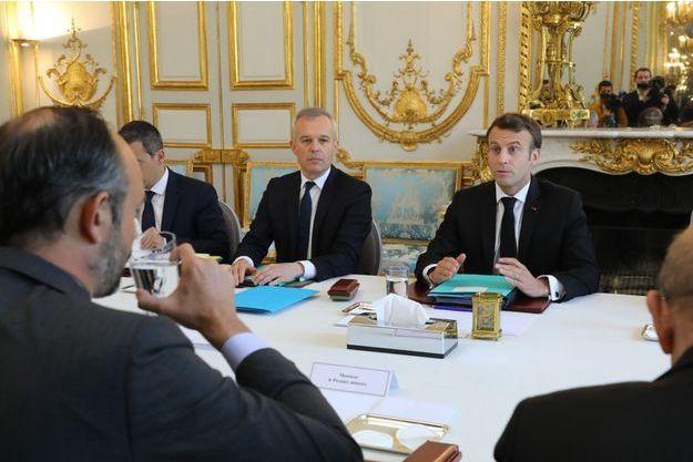 Emmanuel Macron, aux cotés de François de Rugy