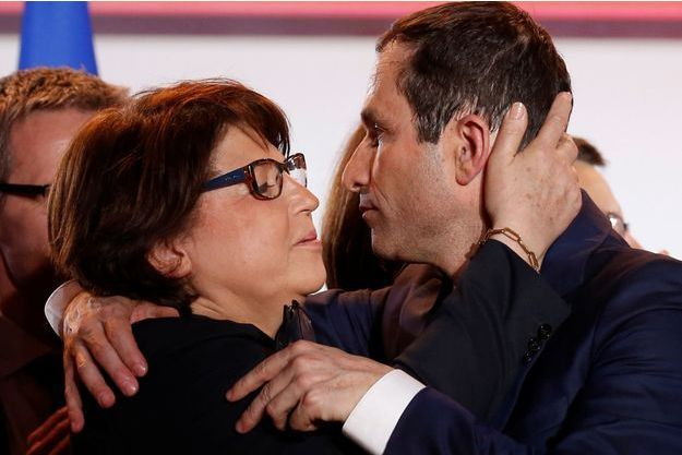 Martine Aubry et Benoît Hamon à Lille mercredi.