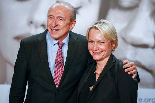Gerard Collomb et son épouse Caroline au Festival Lumière à Lyon, en 2014.