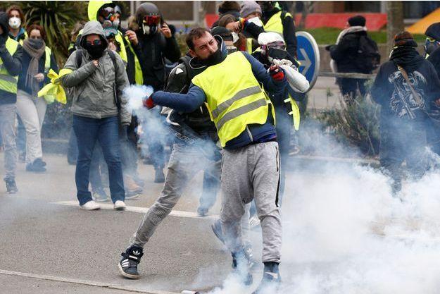 """Samedi à Nantes durant une manifestation des """"gilets jaunes"""""""