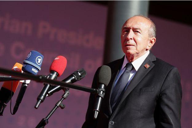 Gérard Collomb ici le 12 juillet face à la presse en Autriche.