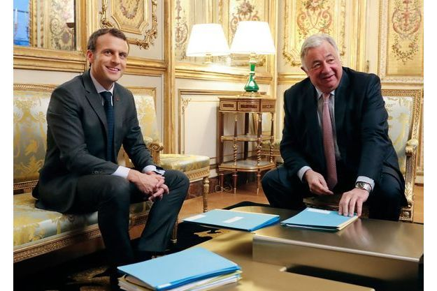 Emmanuel Macron et Gérard Larcher en novembre dernier à l'Elysée.