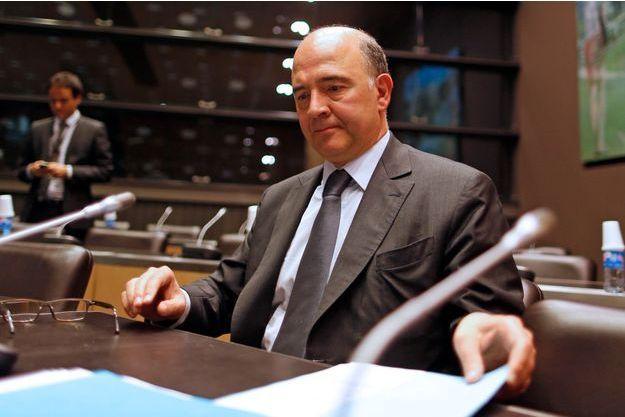 Pierre Moscovici, mardi, avant le début des auditions de la commission d'enquête.