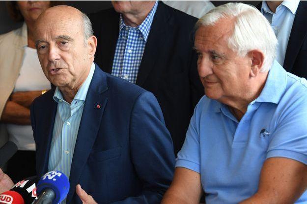 Jean-Pierre Raffarin aux côtés d'Alain Juppé le 9 septembre 2018.
