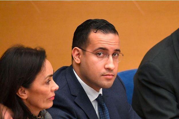 Alexandre Benalla devant la Commission du Sénat.