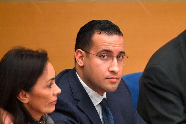 Alexandre Benalla au Sénat, lundi.