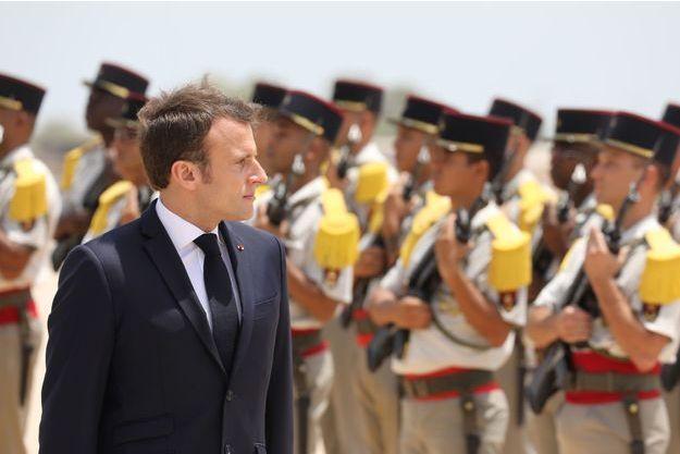 Emmanuel Macron à Djibouti.