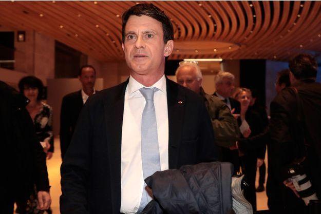 Manuel Valls mercredi soir au dîner du Crif.