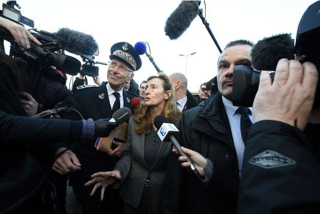 Nicole Belloubet mardi matin à la prison de Vendin-le-Vieil.