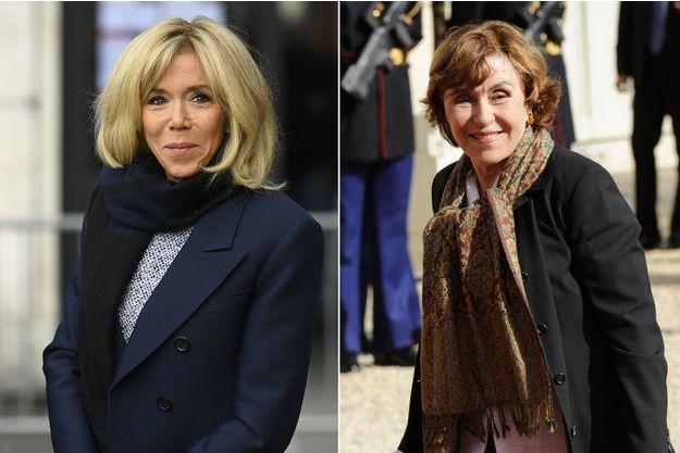 Brigitte Macron et Edith cresson ont visité ensemble une école d'Argenteuil jeudi. (montage)