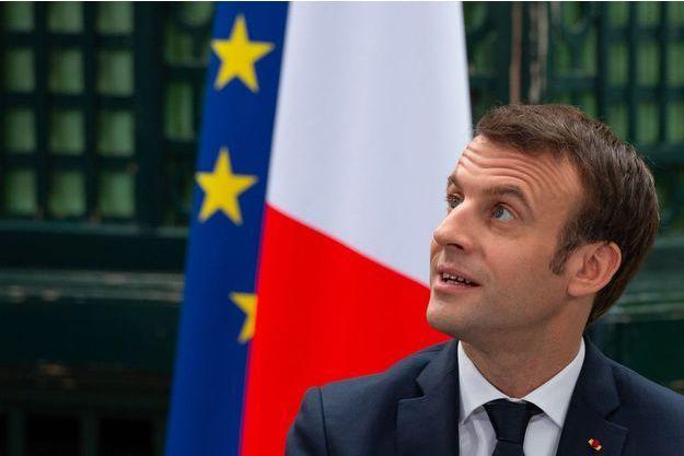 Emmanuel Macron lors d'un débat à Bordeaux, le 1er mars.