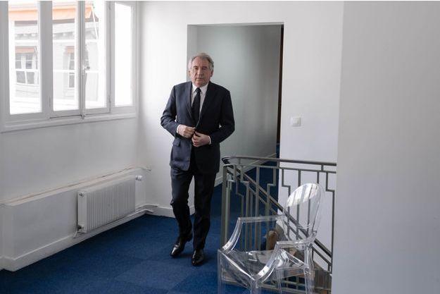 Francois Bayrou au siege du MoDem, à Paris en mai 2019.
