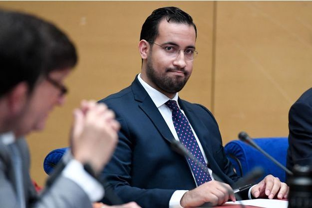 Alexandre Benalla lors de son audition par le Sénat en septembre 2018.