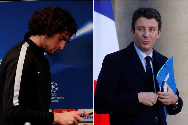 Adrien Rabiot et Benjamin Griveaux.