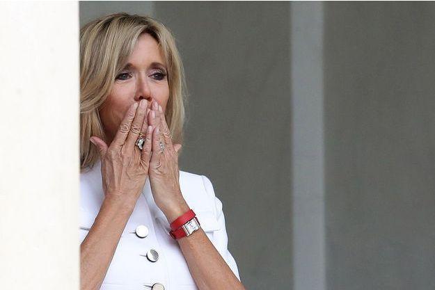 Brigitte Macron, ici le 26 juillet à l'Elysée.