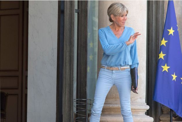 Brigitte Macron, le semaine dernière à l'Elysée