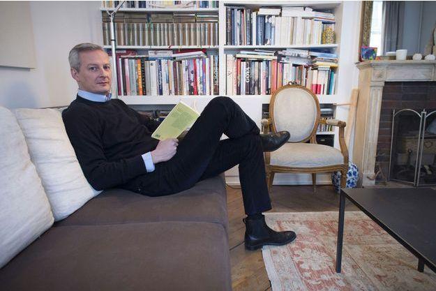 Bruno Le Maire, chez lui à Paris.