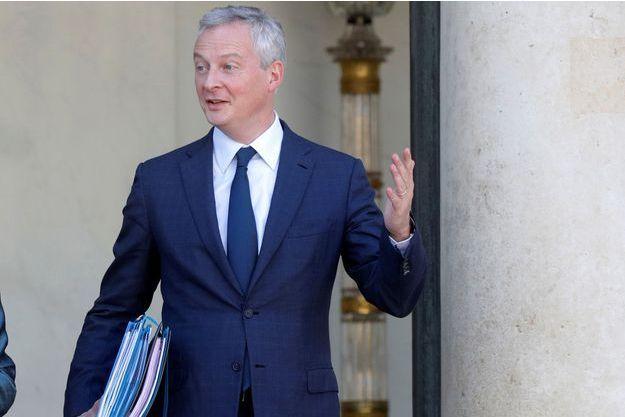 Bruno Le Maire, mercredi à la sortie du Conseil des ministres.