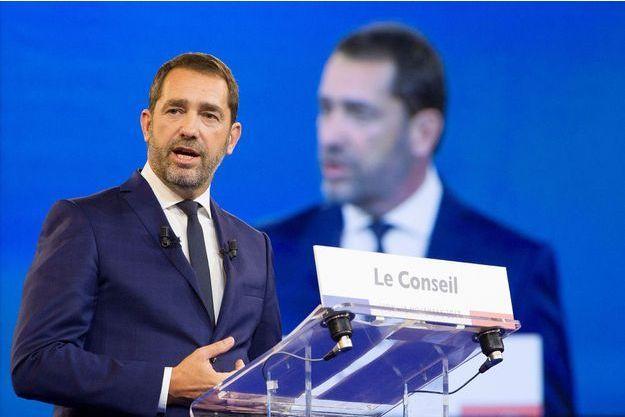 Christophe Castaner, lors de son discours à Lyon, samedi.
