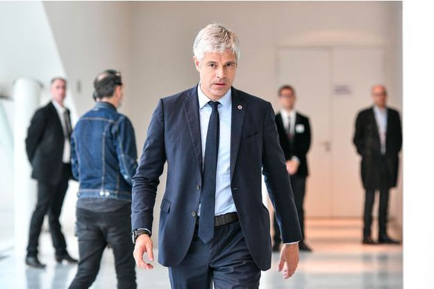 Laurent Wauquiez lors d'un meeting à Bordeaux, le 17 mai.