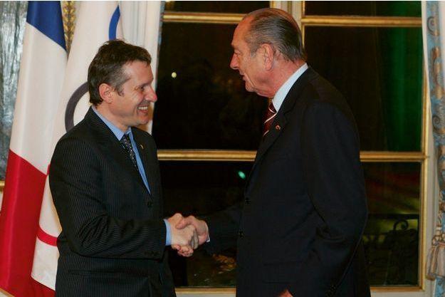Thierry Rey et Jacques Chirac en 2005.