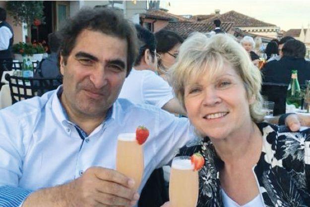 Avec sa femme, Marie-Odile.