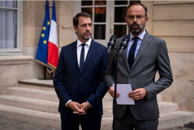 Christophe Castaner aux côtés d'Edouard Philippe le 30 juillet 2019.