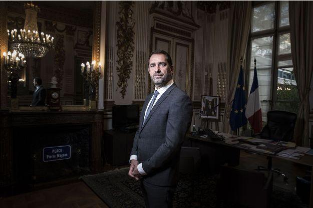 Christophe Castaner dans son bureau à Paris, le 13 novembre 2017.