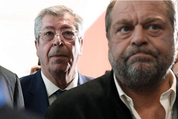 Patrick Balkany et son avocat Eric Dupond-Moretti, le 13 mai 2019.