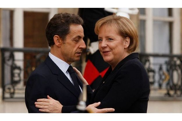 Nicolas Sarkozy et Angela Merkel.