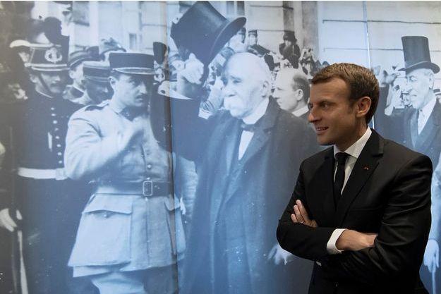 Emmanuel Macron le 11 novembre 2017, en visite au musée Georges Clemenceau.