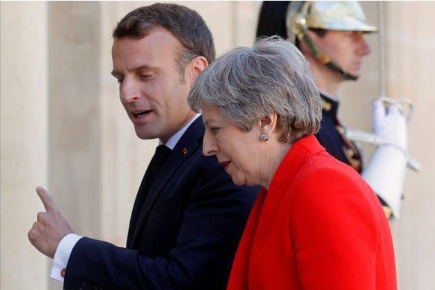 Emmanuel Macron et Therasa May, ici à l'Elysée à la mi-mai.