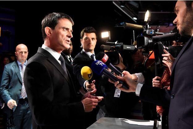 Manuel Valls après le deuxième débat de la primaire de la gauche.