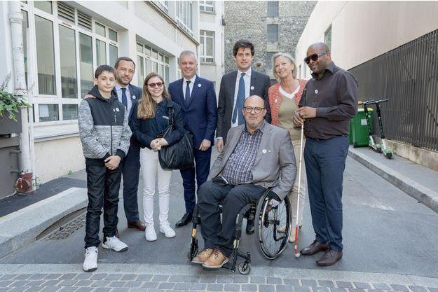 Les ministres et leurs binômes, le 16 mai à Paris : Anthony Alexandre et Adrien Taquet, Alice Marceau et François de Rugy, Julien Denormandie et Alain Chapuis, Sophie Cluzel et Armel Dhellot.
