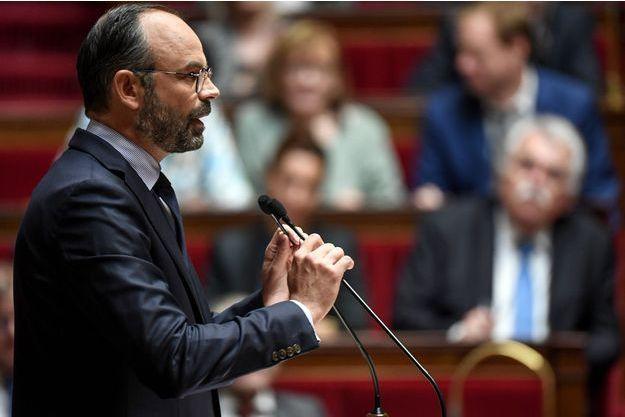 Edouard Philippe, lors de son discours de politique générale à l'Assemblée nationale mercredi.