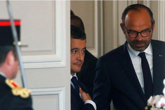 Edouard Philippe et Gerald Darmanin en octobre 2018.