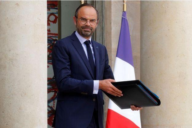 Edouard Philippe mercredi à la sortie du Conseil des ministres.