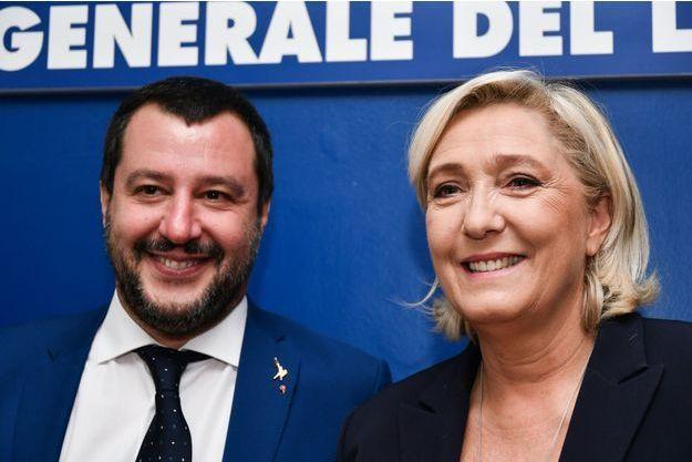 Matteo Salvini et Marine Le Pen, à Rome en octobre 2018.
