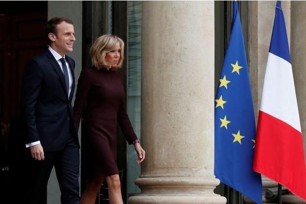 Emmanuel et Brigitte Macron à l'Elysée en novembre 2017.