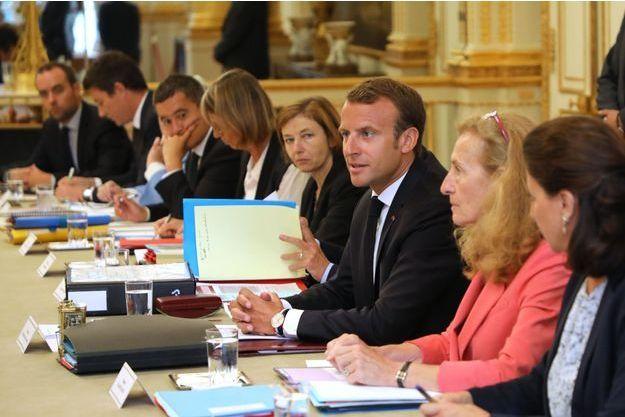 Emmanuel Macron a pris la parole en ouverture du Conseil des ministres mercredi.