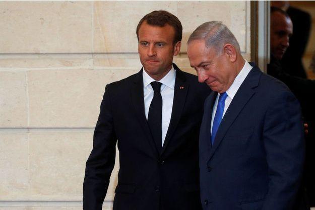 Emmanuel Macron et Benjamin Netanyahu le mardi 5 juin 2018 à l'Elysée.