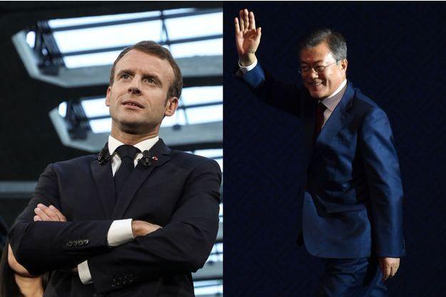 Emmanuel Macron et Moon Jae-in