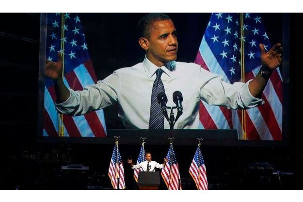 Obama au Nokia Theatre de Los Angeles.