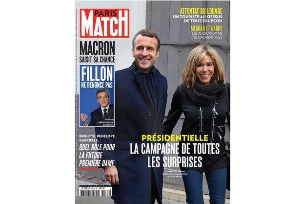 Emmanuel et Brigitte Macron à la Une de Paris Match n°3534.