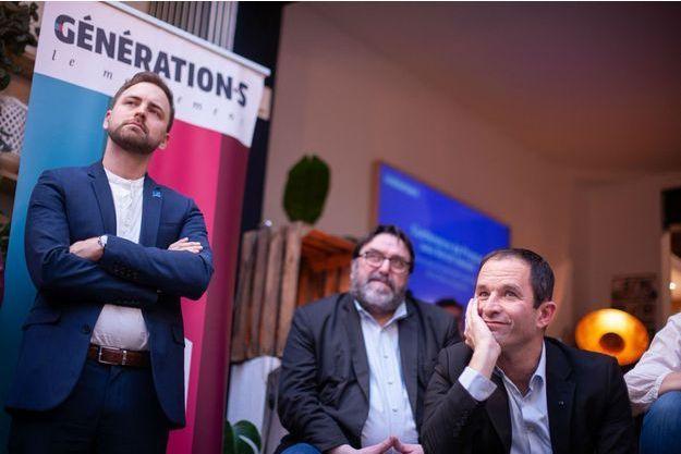 Benoît Hamon mardi à Paris lors de la présentation de sa liste pour les européennes.