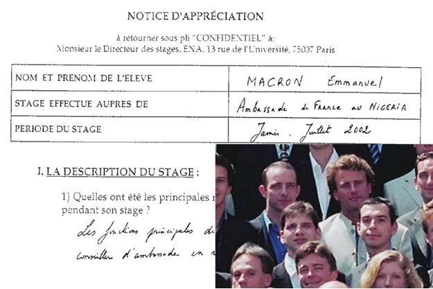 De janvier à juillet 2002, Emmanuel Macron a effectué un stage à l'ambassade de France au Nigéria