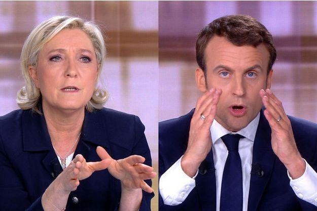 Marine Le Pen et Emmanuel Macron mercredi soir lors du débat de l'entre-deux-tours.