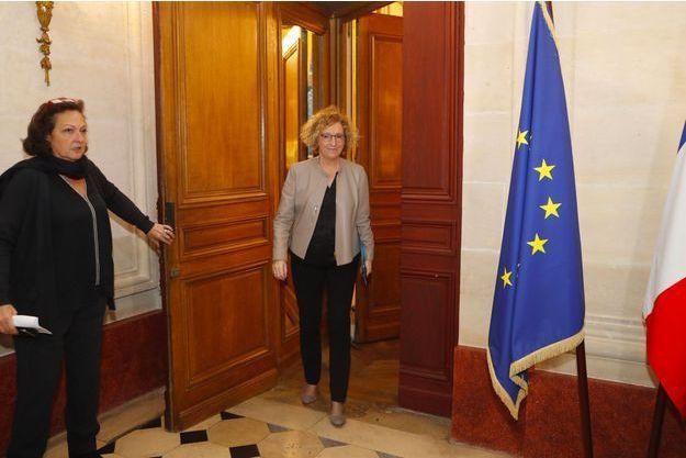 Muriel Pénicaud au ministère du Travail, vendredi.